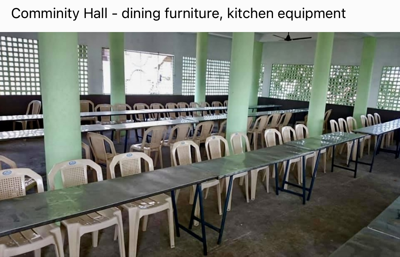 Community hall furniture and equipment