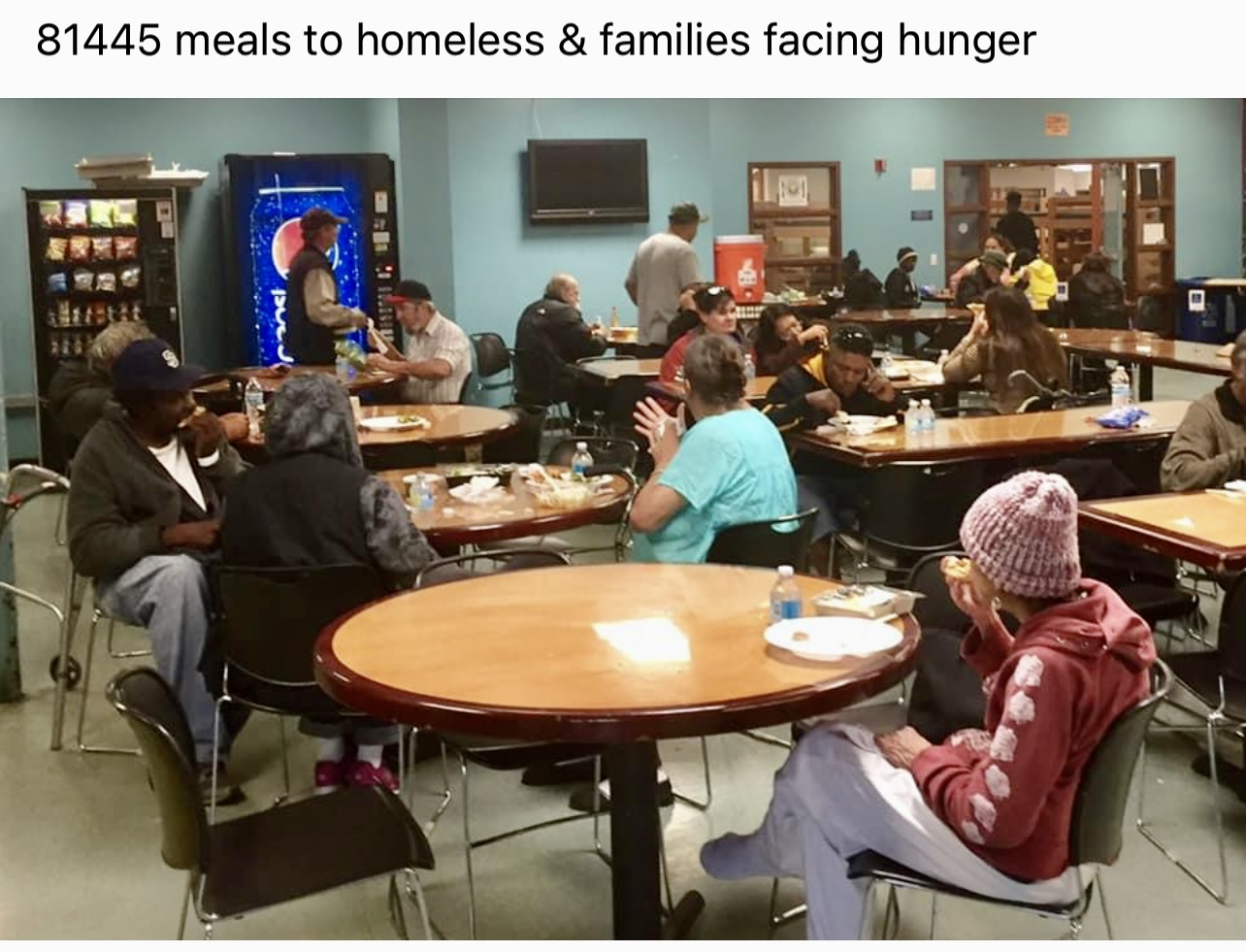 Meals to Homeless and Families facing hunger